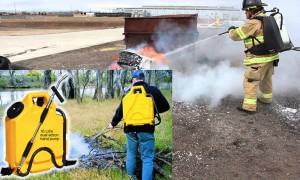 Достоинства и недостатки при использовании ранцевых огнетушителей