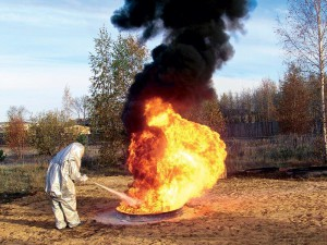 Применение хладоновых огнетушителей