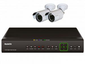 Аналоговый комплект видеонаблюдения на 2 камеры Falcon Eye FE-104D KIT Light