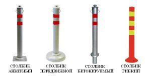 Разновидности парковочных столбиков