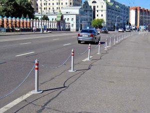 Применение парковочных столбиков