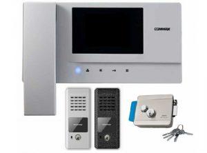 Видеодомофон Commax с замком и вызывной панелью