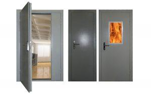 Распашные металлические противопожарные двери